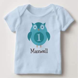 Personalized Birthday T-Shirt | Blue Owl