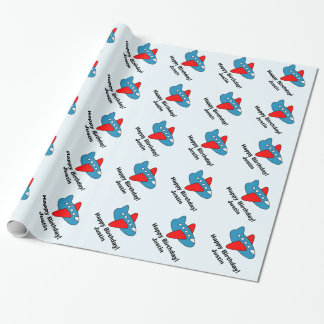 Personalized Birthday wrapping paper | kids plane