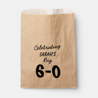 Personalized Black 60th Birthday Favour Bag
