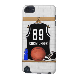 Personalized Black and White Basketball Jersey iPod Touch 5G Cover