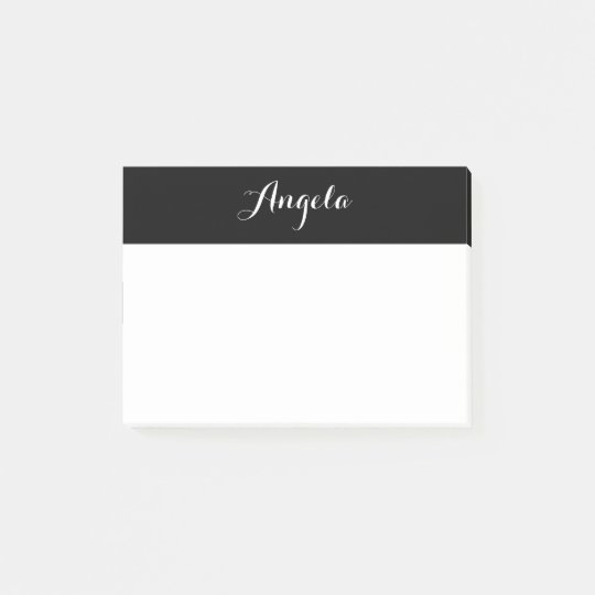 Personalized Black and White Post-it Notes