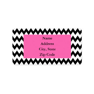 Personalized Black and White Zigzag