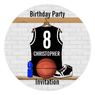 Personalized Black Basketball Jersey Custom Announcement