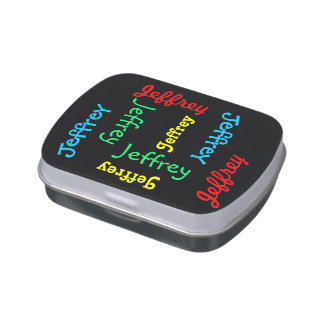 Personalized Black Candy Tin Party Favor Custom