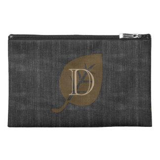 Personalized Black Denim  Look Monogrammed Bag Travel Accessory Bags