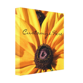 Personalized Black Eyed Susan Canvas Print