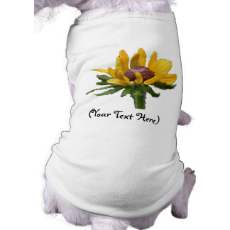 Personalized Black Eyed Susan Flower Dog T-Shirt