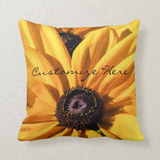 Personalized Black Eyed Susan Throw Pillow