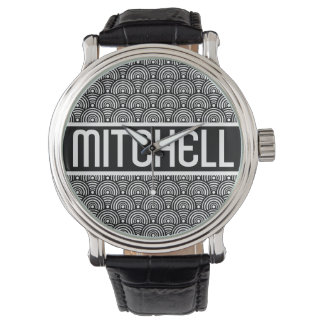 Personalized Black Fish Scale KB Watch