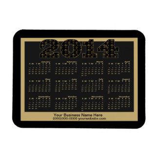 Personalized Black Gold Fleur de Lis Pattern 2014 Rectangular Photo Magnet