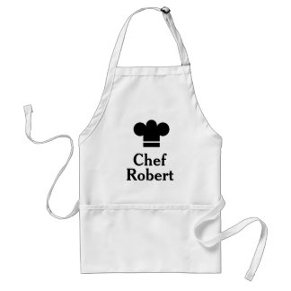 Personalized Black Hat Chef Apron