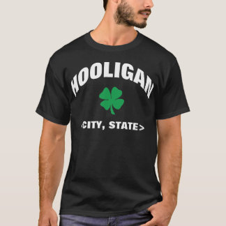 Personalized Black Irish Hooligan T-Shirt