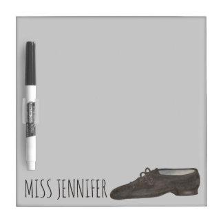 Personalized Black Jazz Shoe Dance Teacher Gift Dry Erase Board