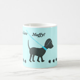 personalized black lab mug