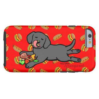 Personalized Black Labrador Puppy Cartoon Tough iPhone 6 Case