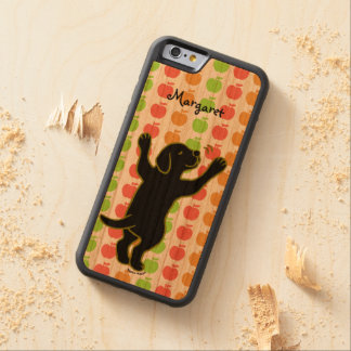 Personalized Black Labrador Puppy Hug iPhone Case