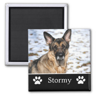 Personalized Black Pet Photo Magnet