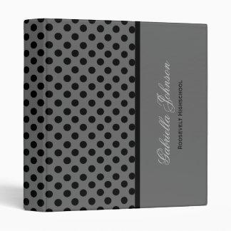 Personalized: Black Polka Dot Binder