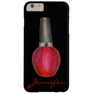 Personalized Black Red Nail Polish Phone Case