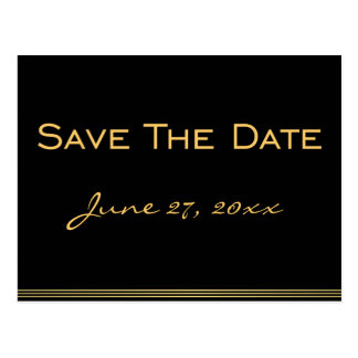 Personalized Black Save The Date Postcards