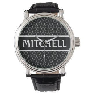 Personalized Black SM Dragon Scale Watch