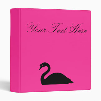 Personalized,Black Swan,Fuchsia Binder