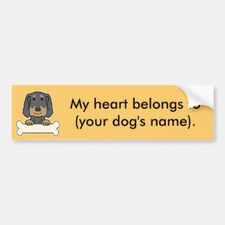 Personalized Black & Tan Coonhound Car Bumper Sticker