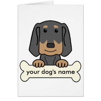 Personalized Black & Tan Coonhound Card