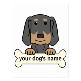 Personalized Black & Tan Coonhound Postcard