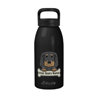 Personalized Black Tan Coonhound Reusable Water Bottle