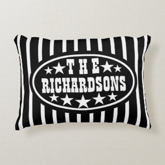 Personalized Black Vintage Carnival Decorative Pillow