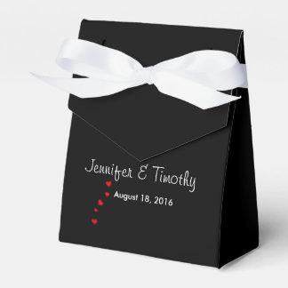 Personalized Black Wedding Favor Box