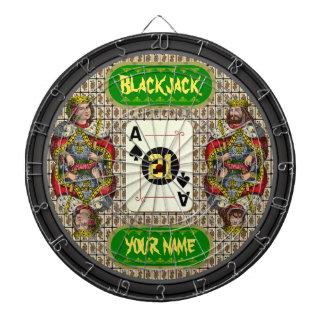 Personalized Blackjack Dart Board
