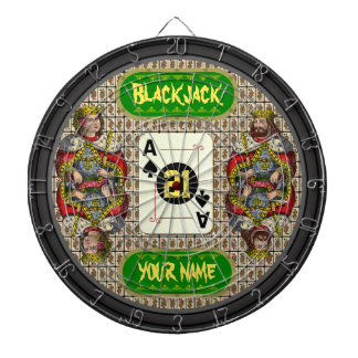 Personalized Blackjack Dartboard