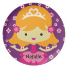 Personalized Blonde Princess Plate