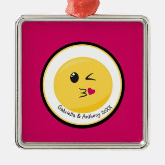 Personalized Blowing A Kiss Love Emoji Ornament