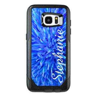 Personalized Blue Abstract Otterbox Galaxy S7 EDGE OtterBox Samsung Galaxy S7 Edge Case