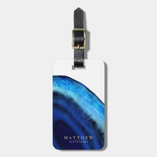 Personalized | Blue Agate Luggage Tag