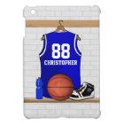 Personalized Blue and White Basketball Jersey iPad Mini Case
