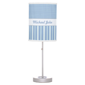 Personalized Blue Baby Nursery Lamp