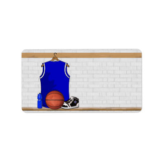 Personalized Blue Basketball Jersey Personalized Address Label