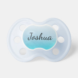 Personalized Blue  Boy Baby Pacifier