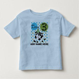 Personalized Blue Cow 3rd Birthday Tshirt