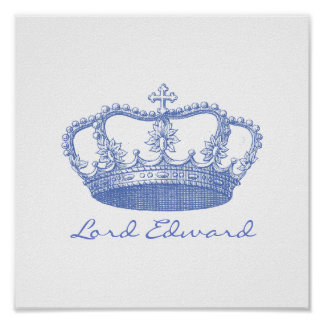 Personalized Blue Crown Poster