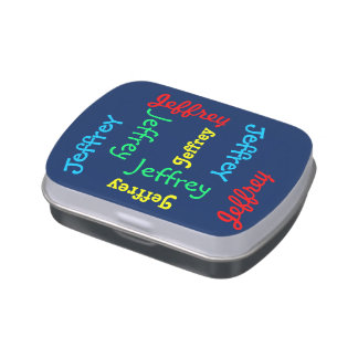 Personalized Blue Custom Candy Tin Party Favor