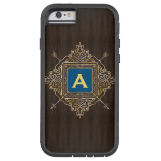 Personalized blue emblem monogram archery arrows tough xtreme iPhone 6 case