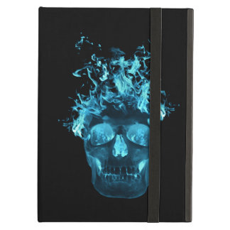 Personalized Blue Fire Skull iPad Case