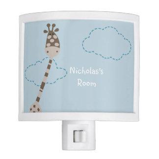 Personalized Blue Giraffe Night Light