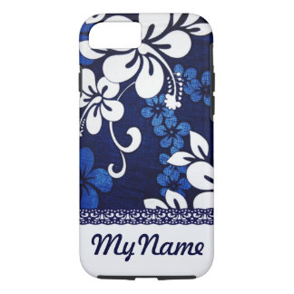 Personalized Blue Hawaii Flowers iPhone 8/7 Case