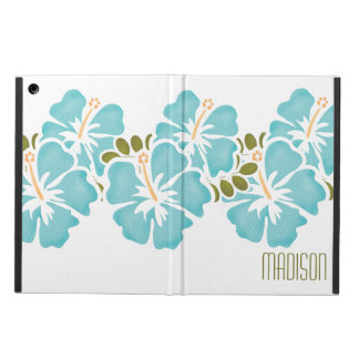 PERSONALIZED BLUE HIBISCUS COVER FOR iPad AIR